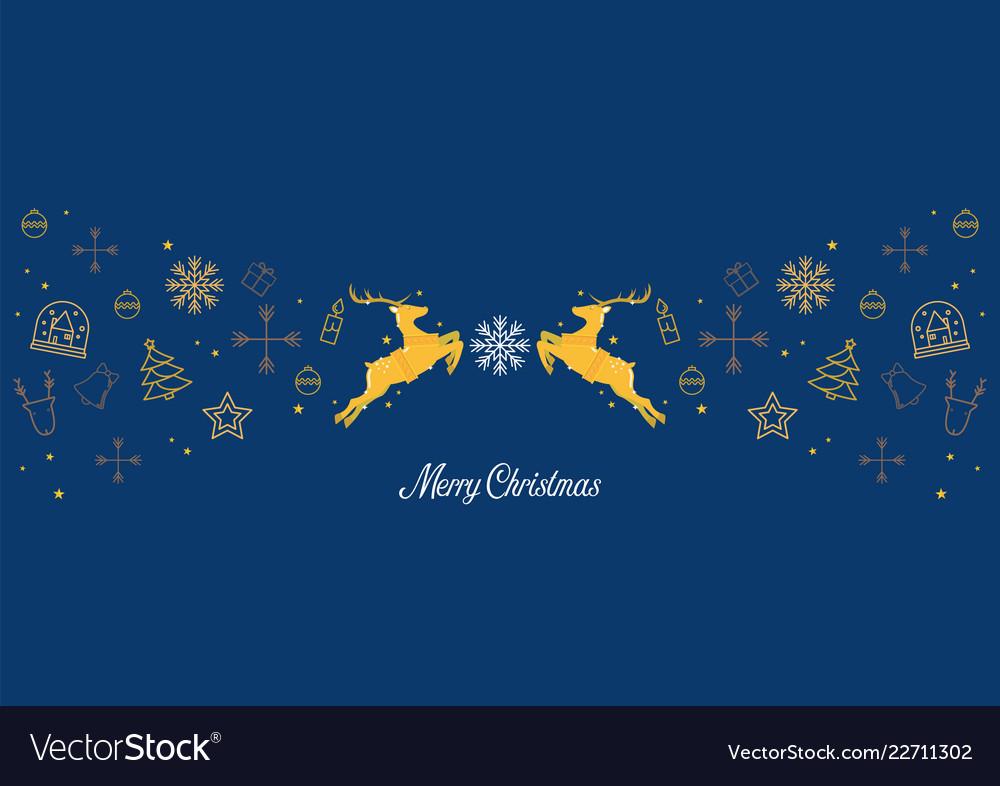 Merry christmas glass ball with santa sleigh and