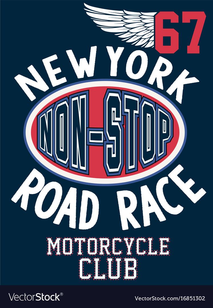 Newyork sport college athletic typography t-shirt