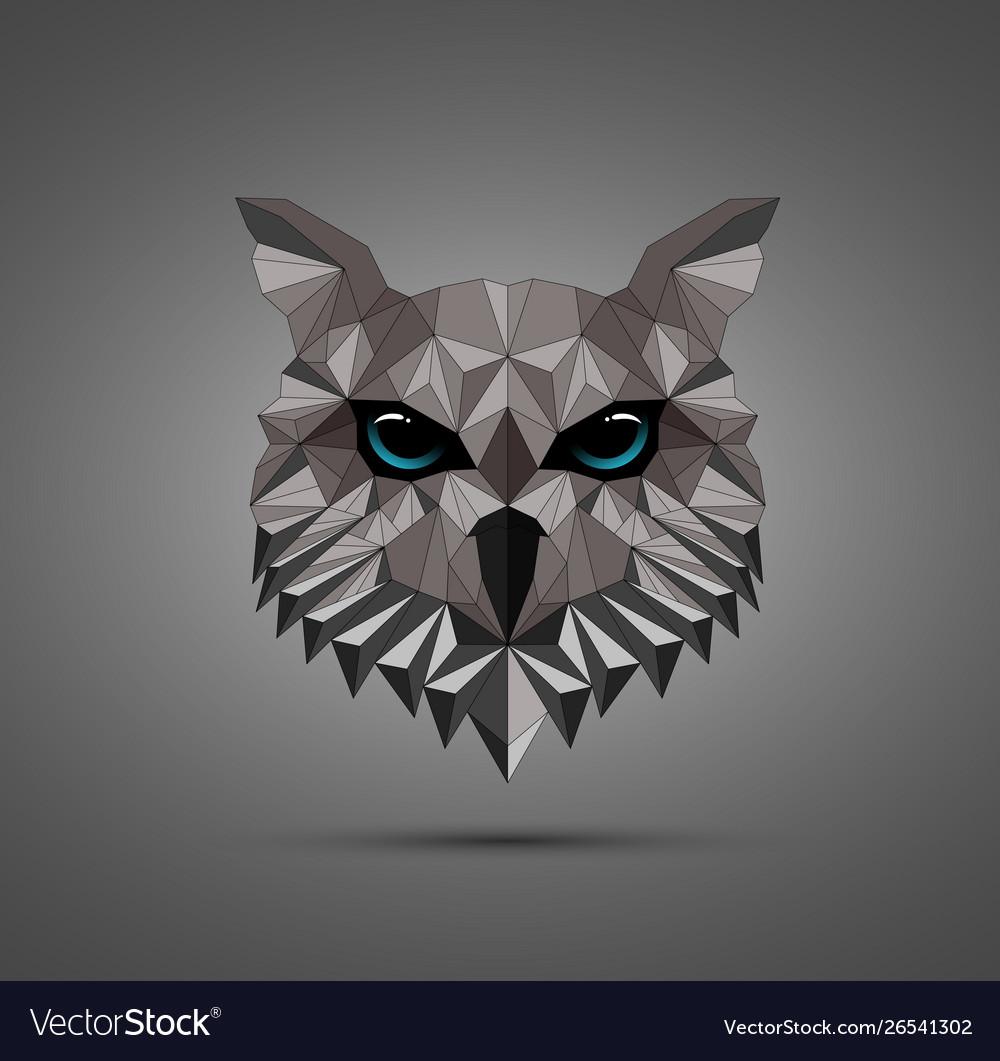 Owl bird low poly design