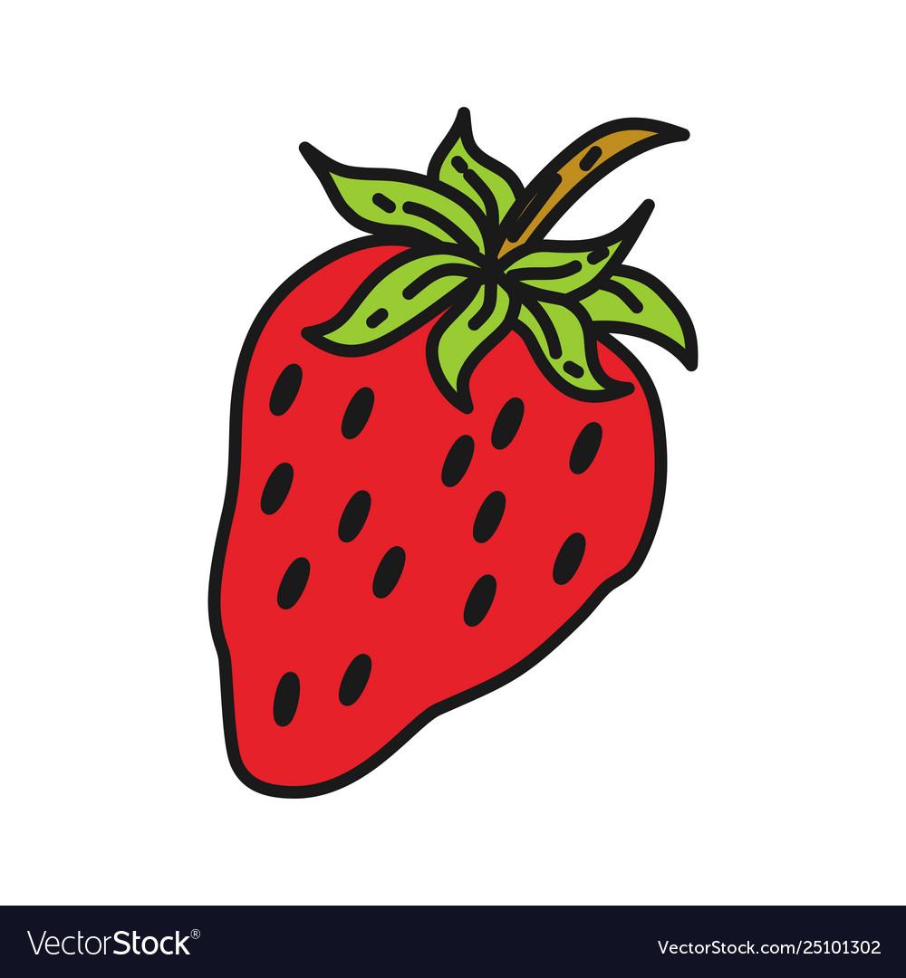 Strawberry fruit design template