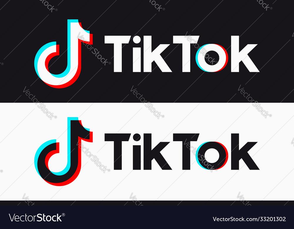 Tiktok Icon Glitch Tik Tok Logo Royalty Free Vector Image