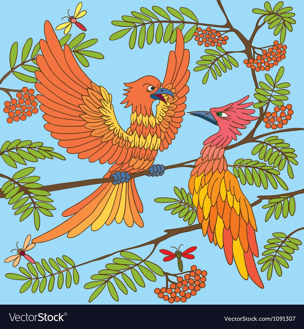 Birds sing songs Seamless texture vector image