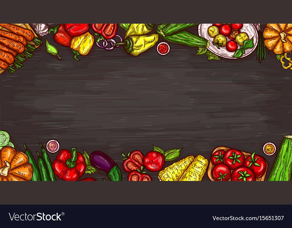 Cartoon of various vegetables