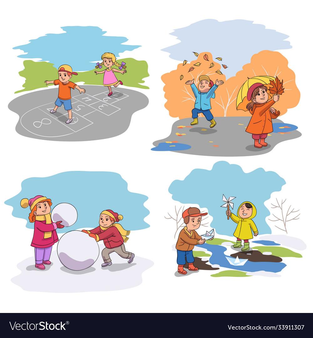 Children season outdoor recreational activity set