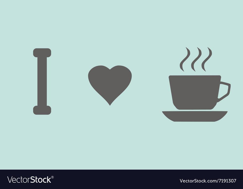 Coffee cups love vector image