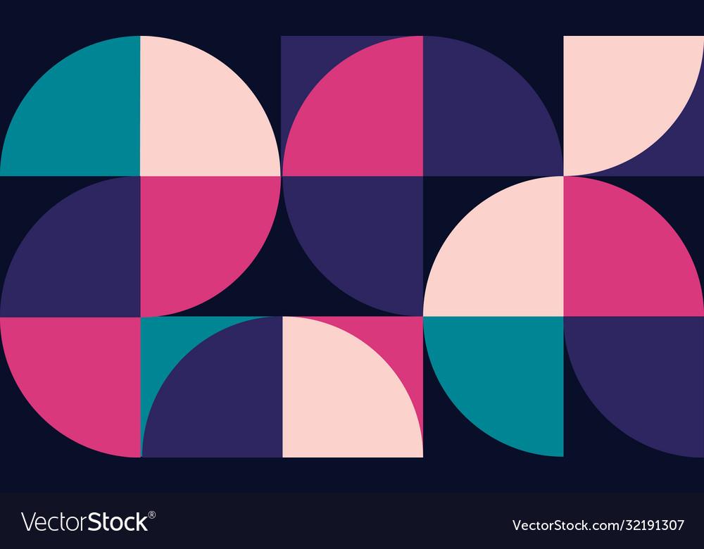 Geometric minimalistic artwork poster