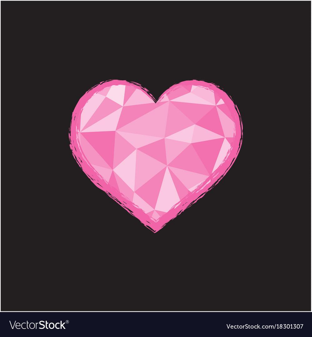Heart in polygonal style