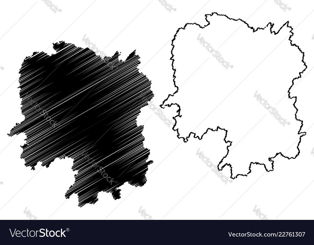 Hunan Province China Map.Hunan Province Map Royalty Free Vector Image Vectorstock