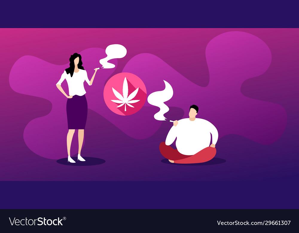 man woman smoking marijuana joint drugs royalty free vector man woman smoking marijuana joint drugs royalty free vector