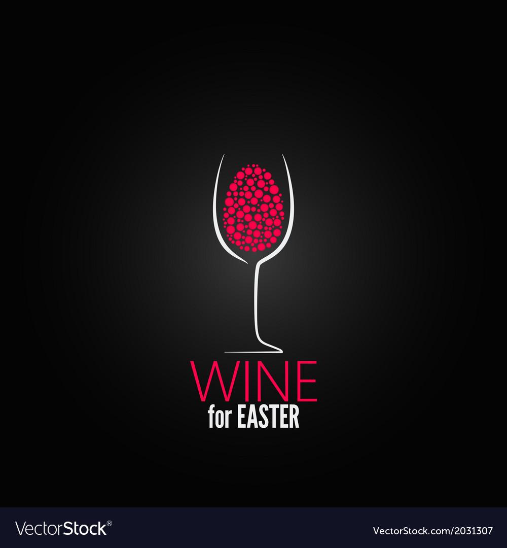 Wine easter design background