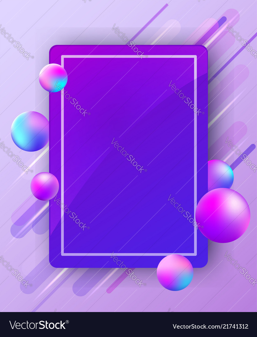 Abstract bright background with balls