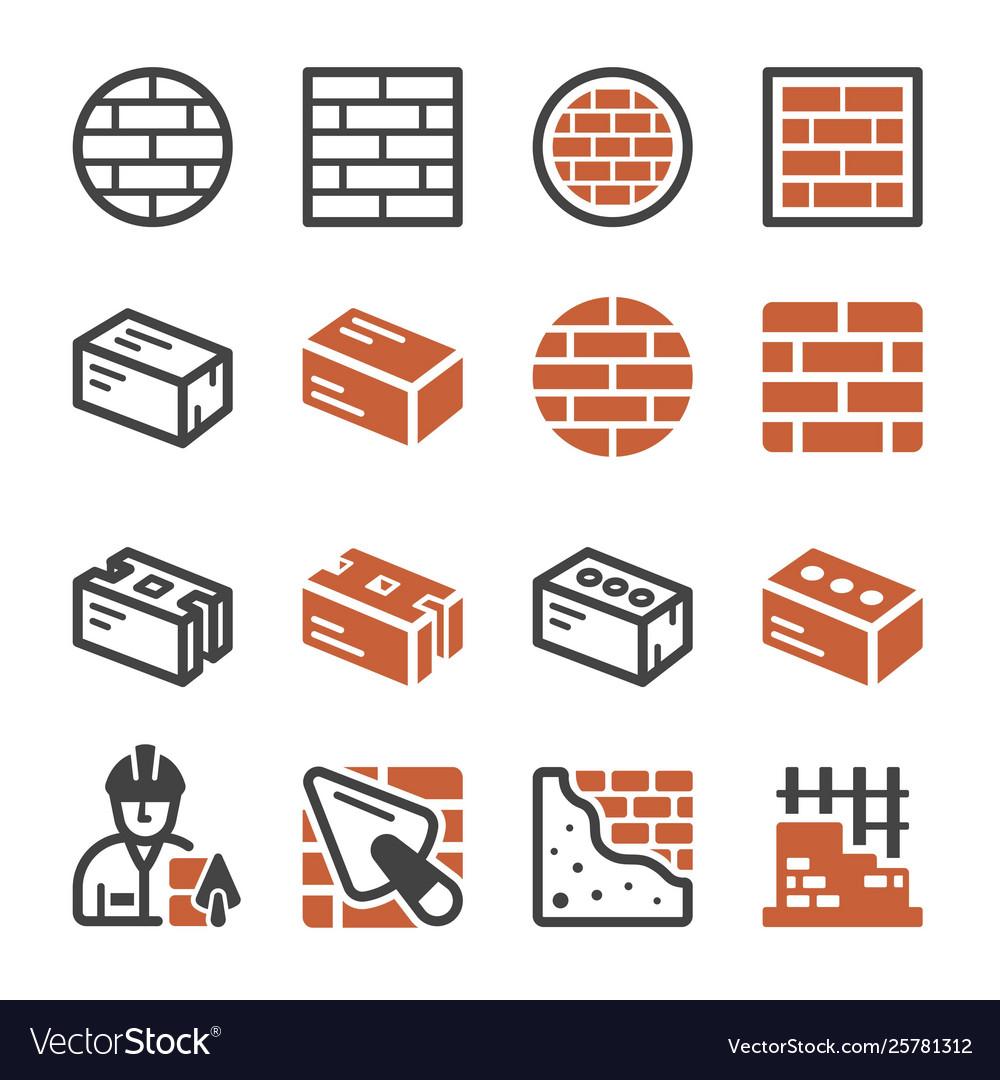 Brick icon set