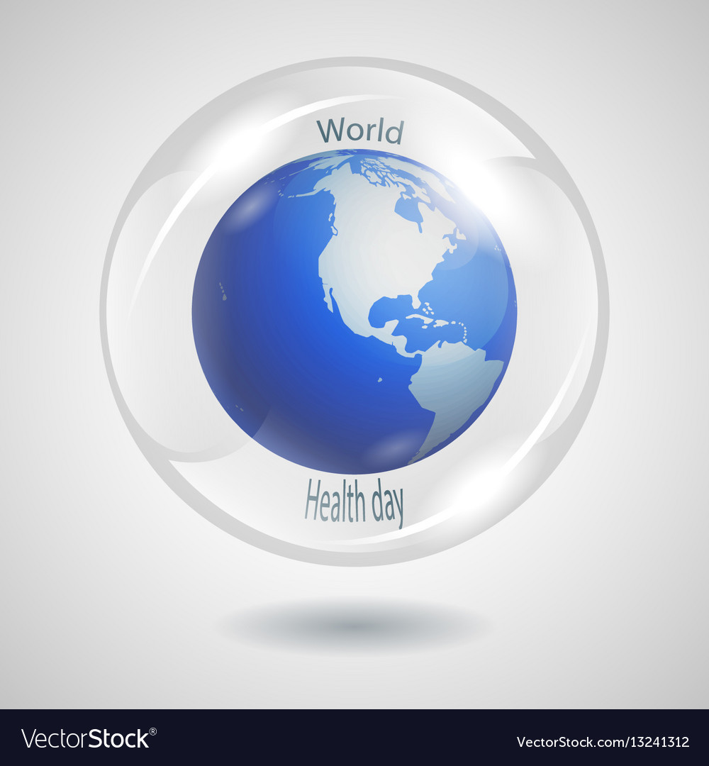 Bubble globe vector image