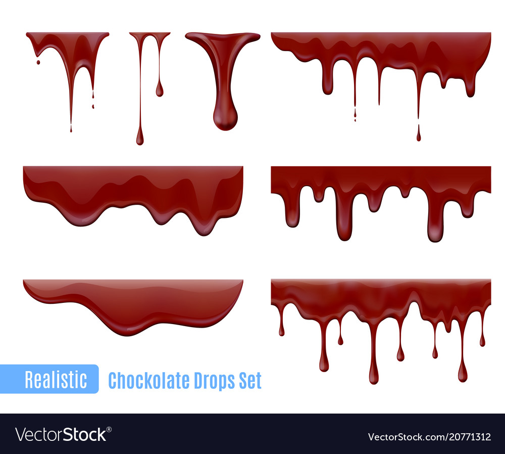 Chocolate drops set vector image