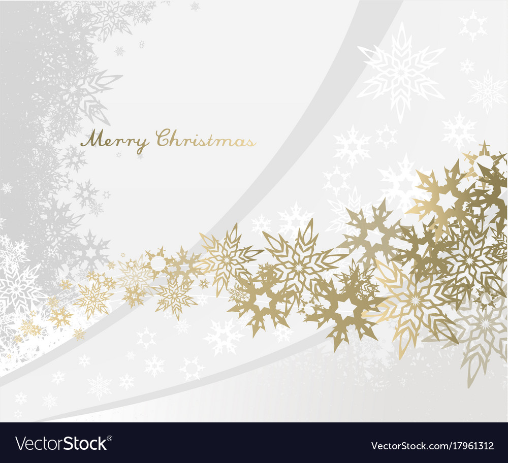 christmas background with snowflakes and simple vector image