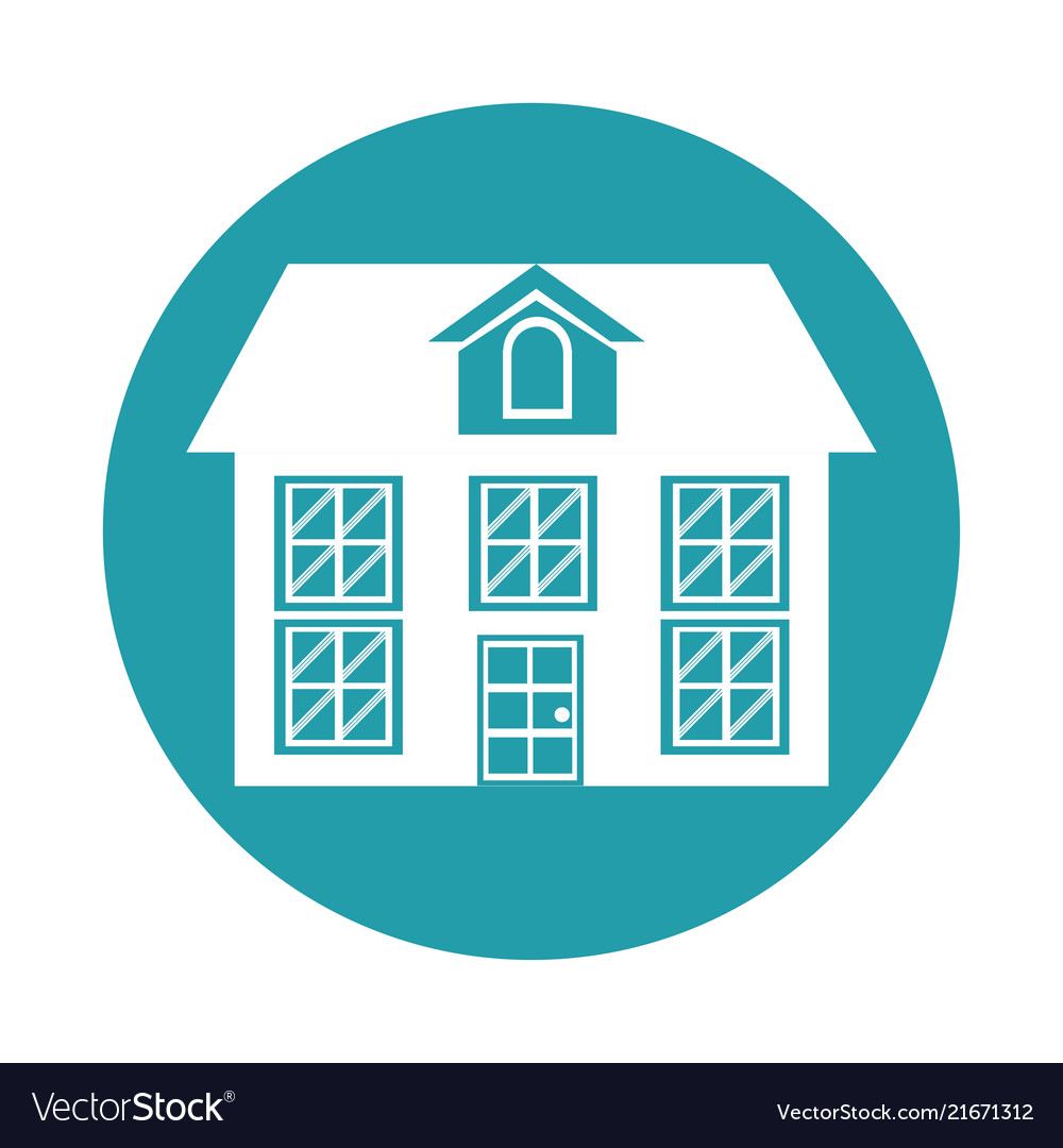 House building icon design graphic