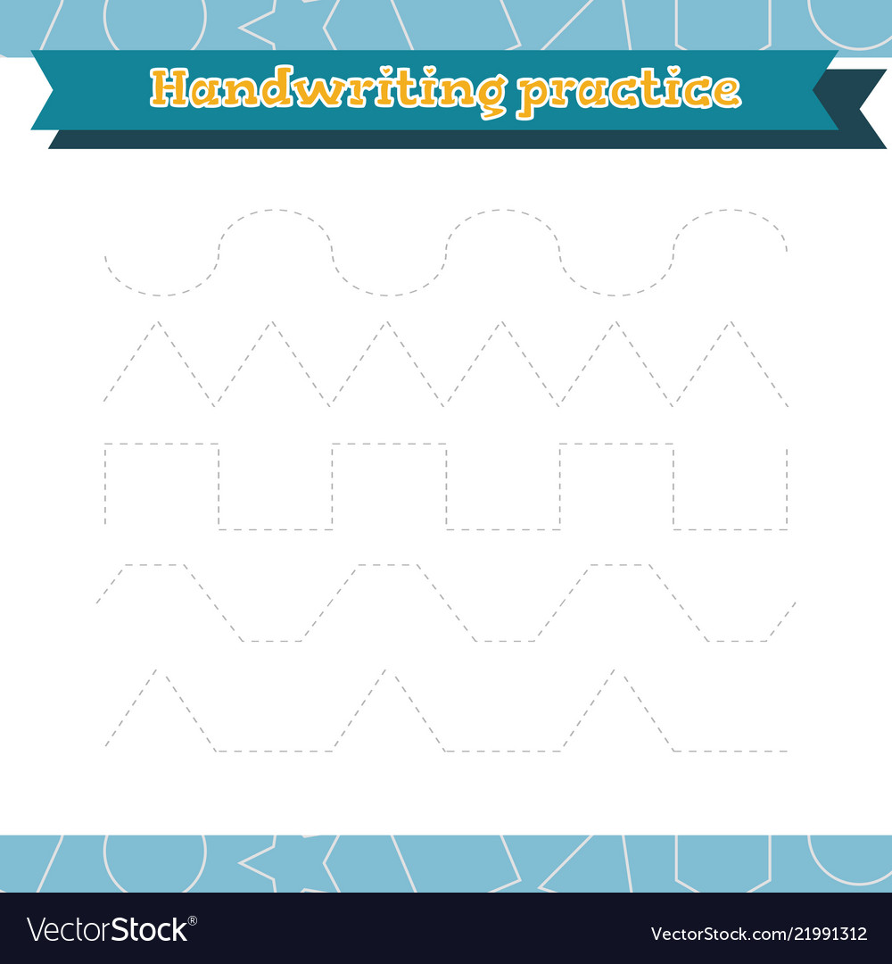 Learn shapes and geometric figures handwriting