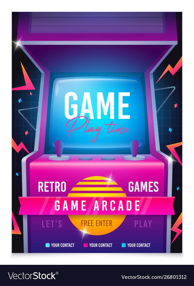 Retro gaming game 80s-90s arcade machine