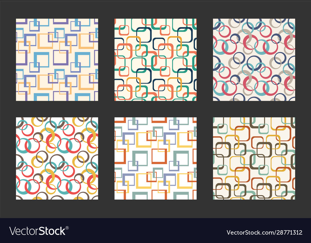 Retro seamless pattern set vintage textile