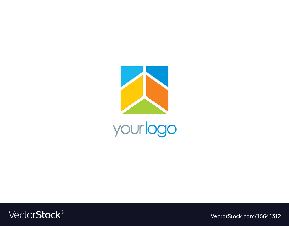 Square abstract business logo