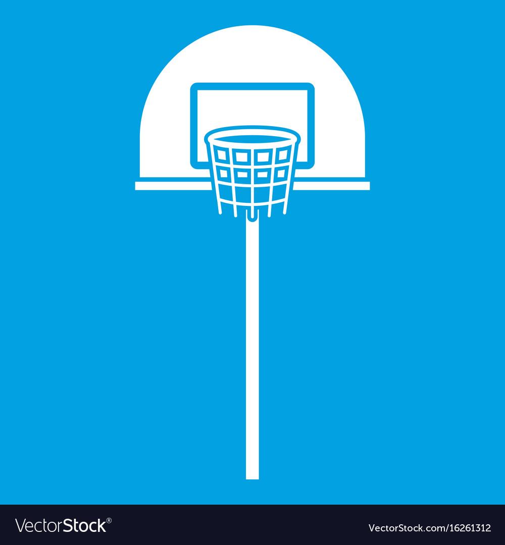 Street basketball hoop icon white vector image