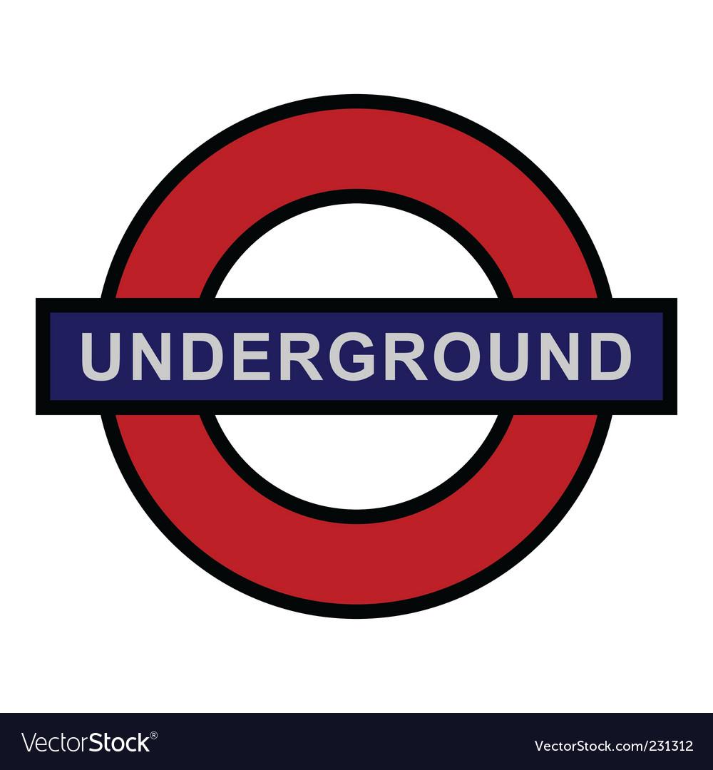 Underground sign vector image