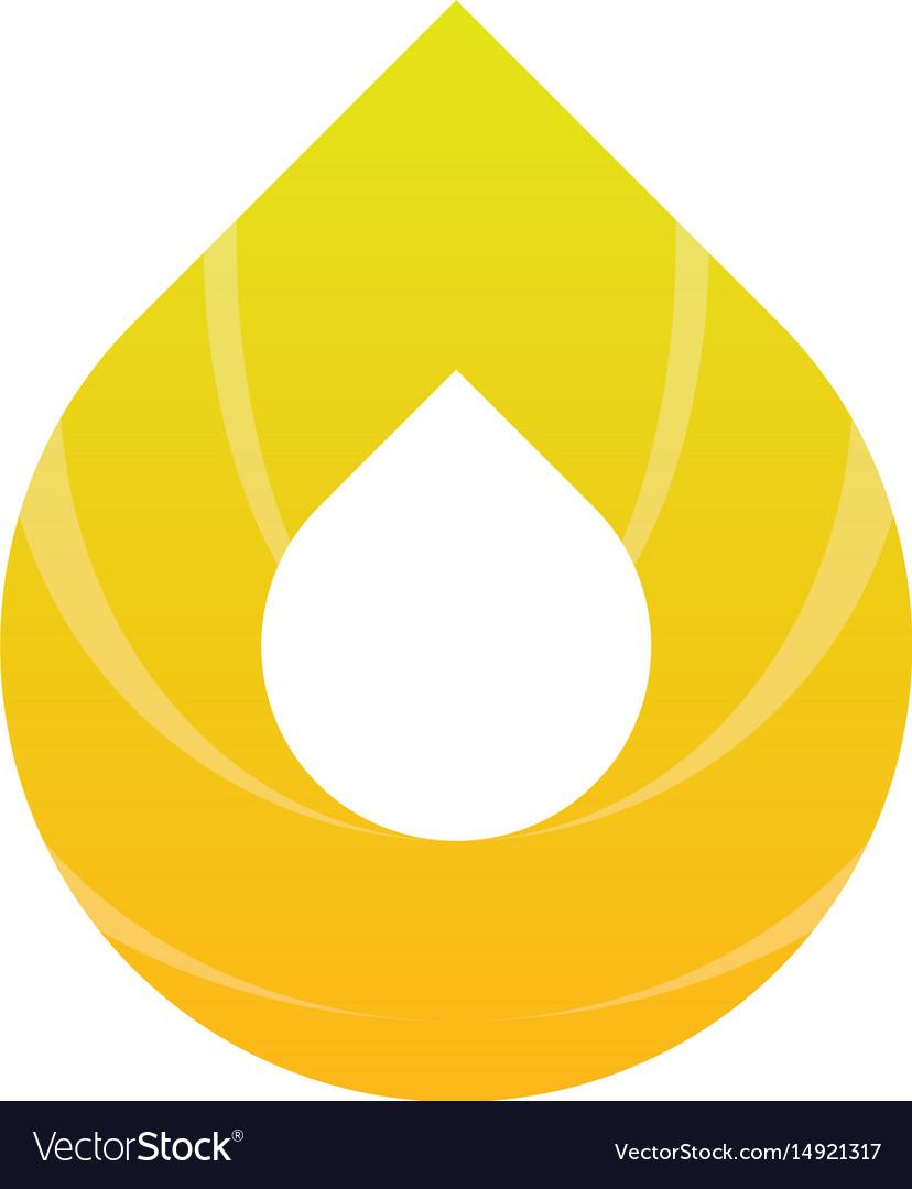 Abstract water drop logo image