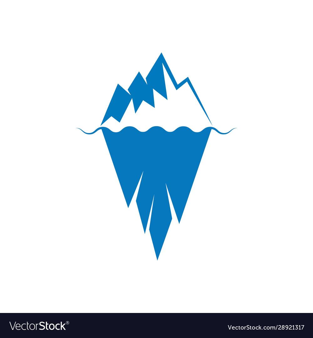 Iceberg Royalty Free Vector Image Vectorstock