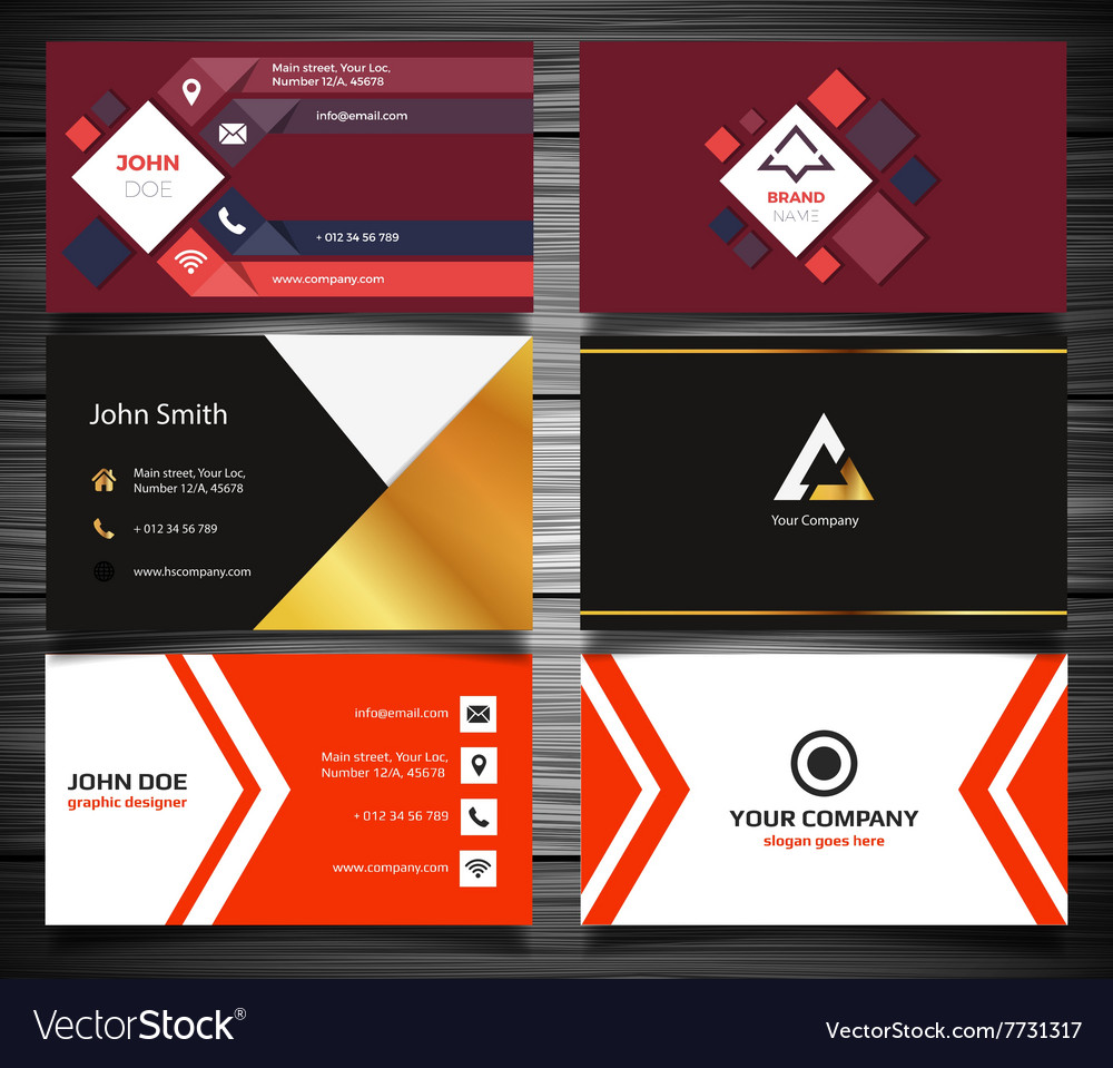 Modern business card set