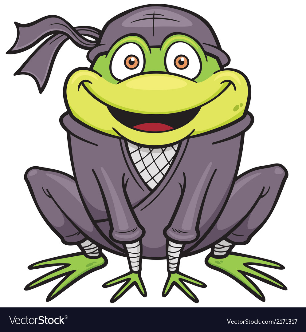 Ninja Frog Royalty Free Vector Image Vectorstock