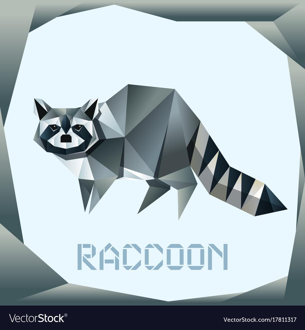 Origami standing raccoon