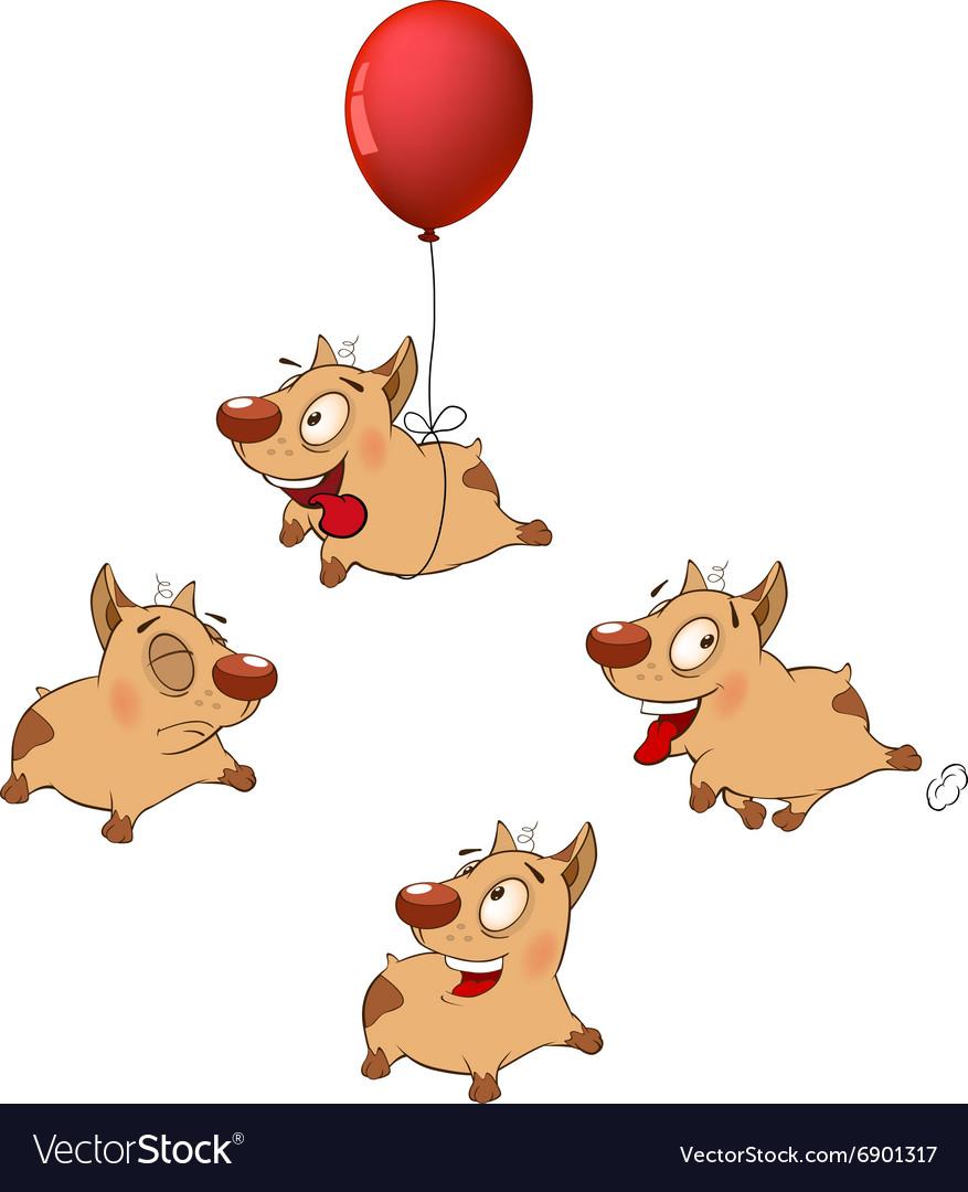 Set funny dogs Cartoon