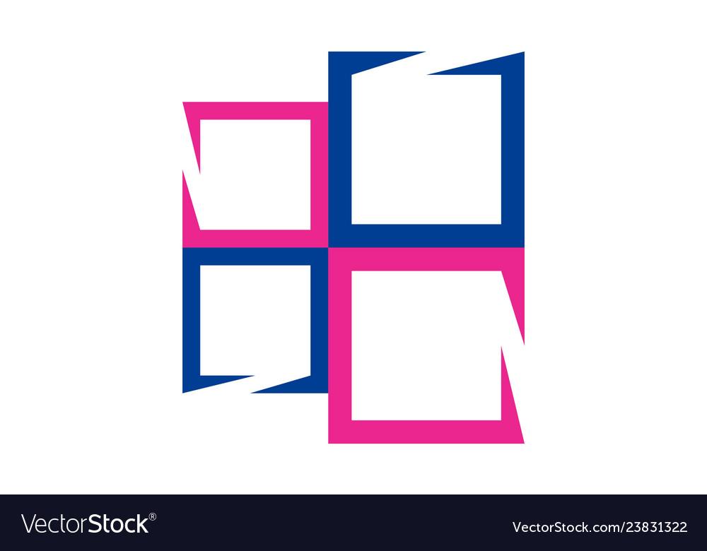 Abstract window logo concept icon