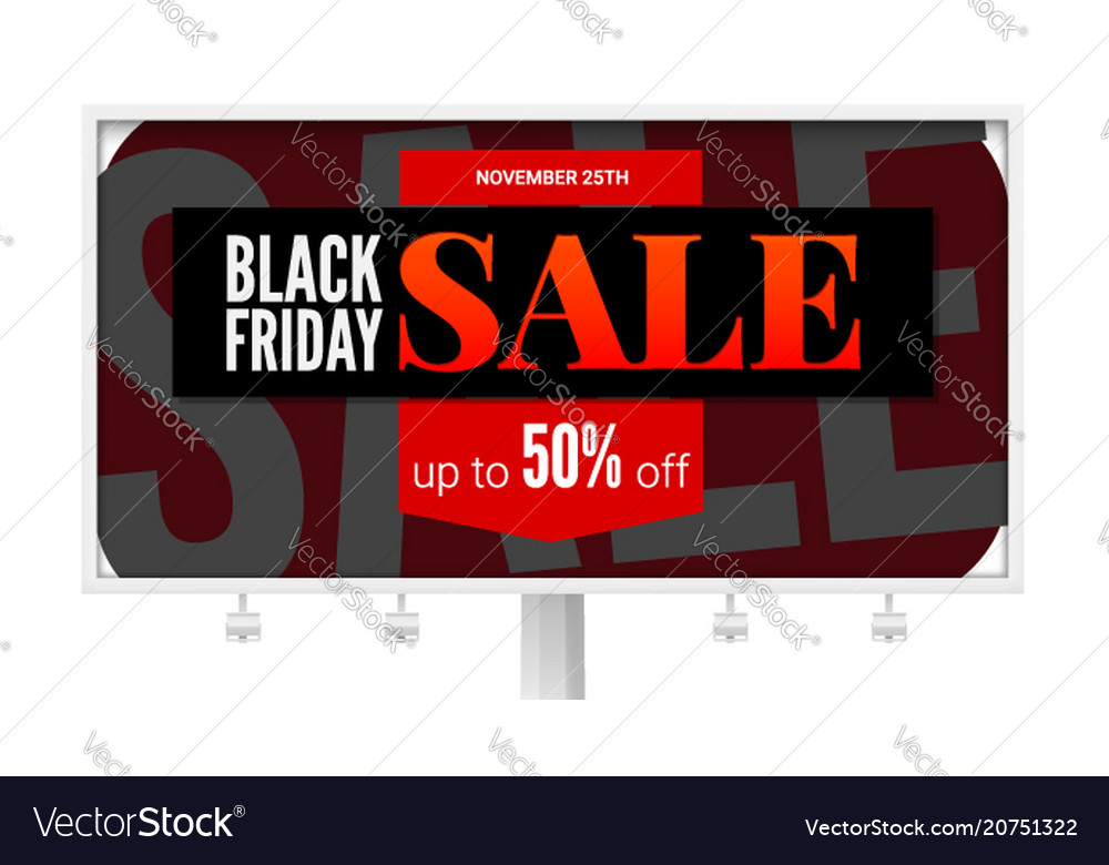 Billboard with sale poster black friday ad