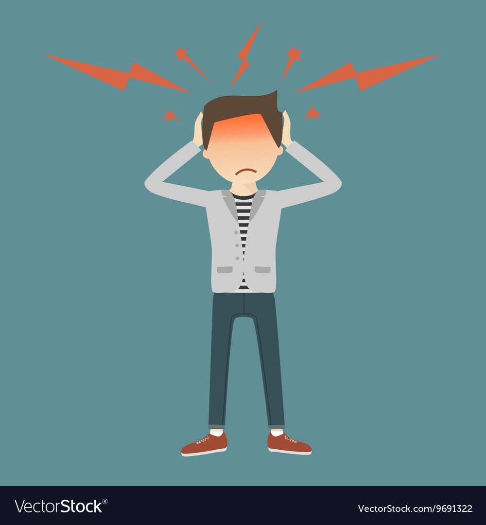 Businessman with Headache vector image
