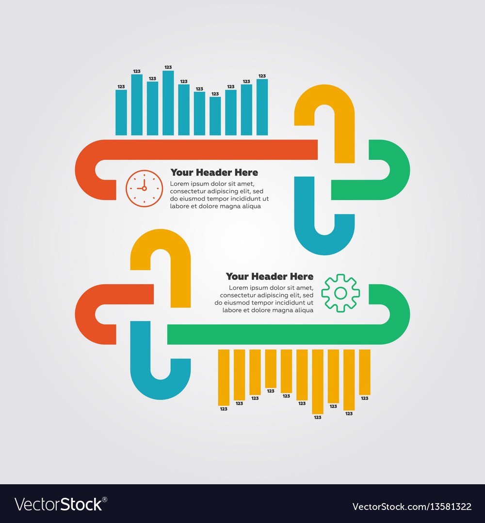 Infographics elements bar chart vector image