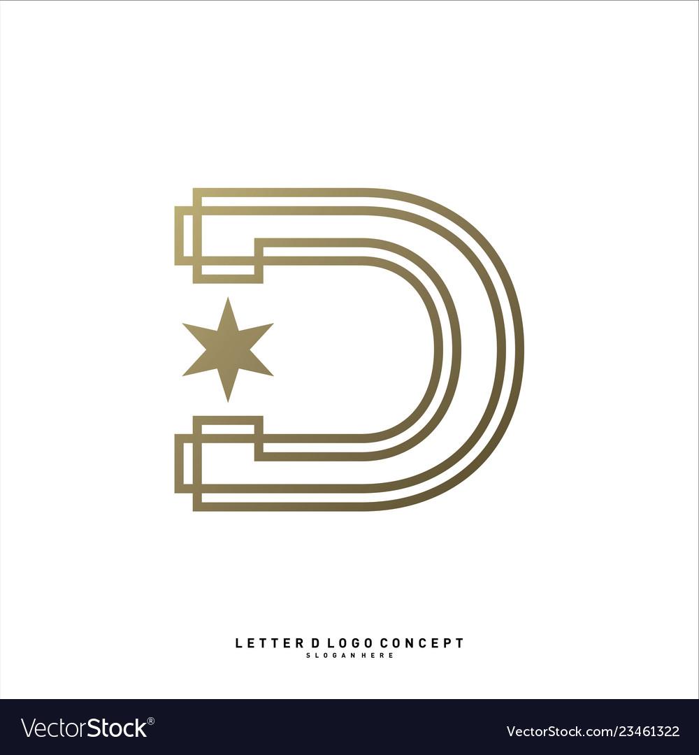 Letter d planet logo design concept template