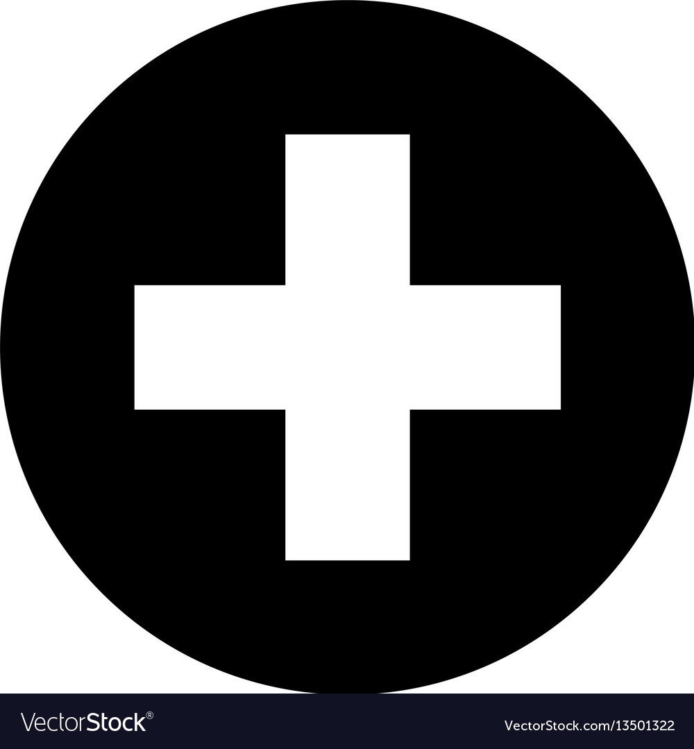 0876728bc63 Medical Cross Symbol Icon Royalty Free Vector Image