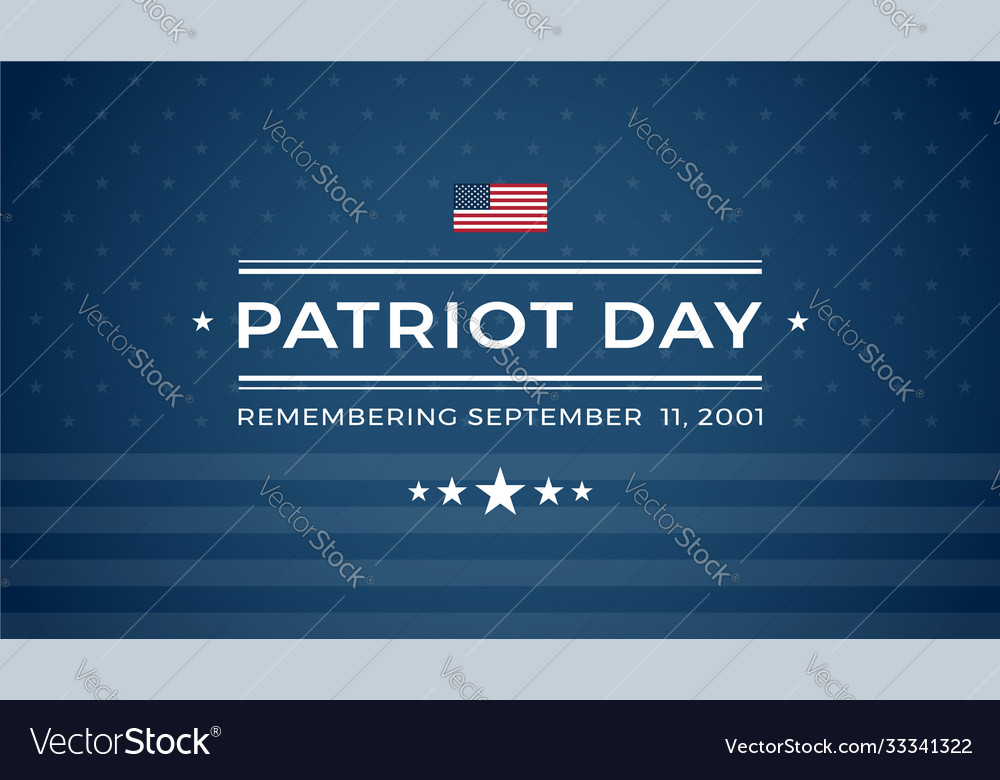 Patriot day 911 blue background remembering