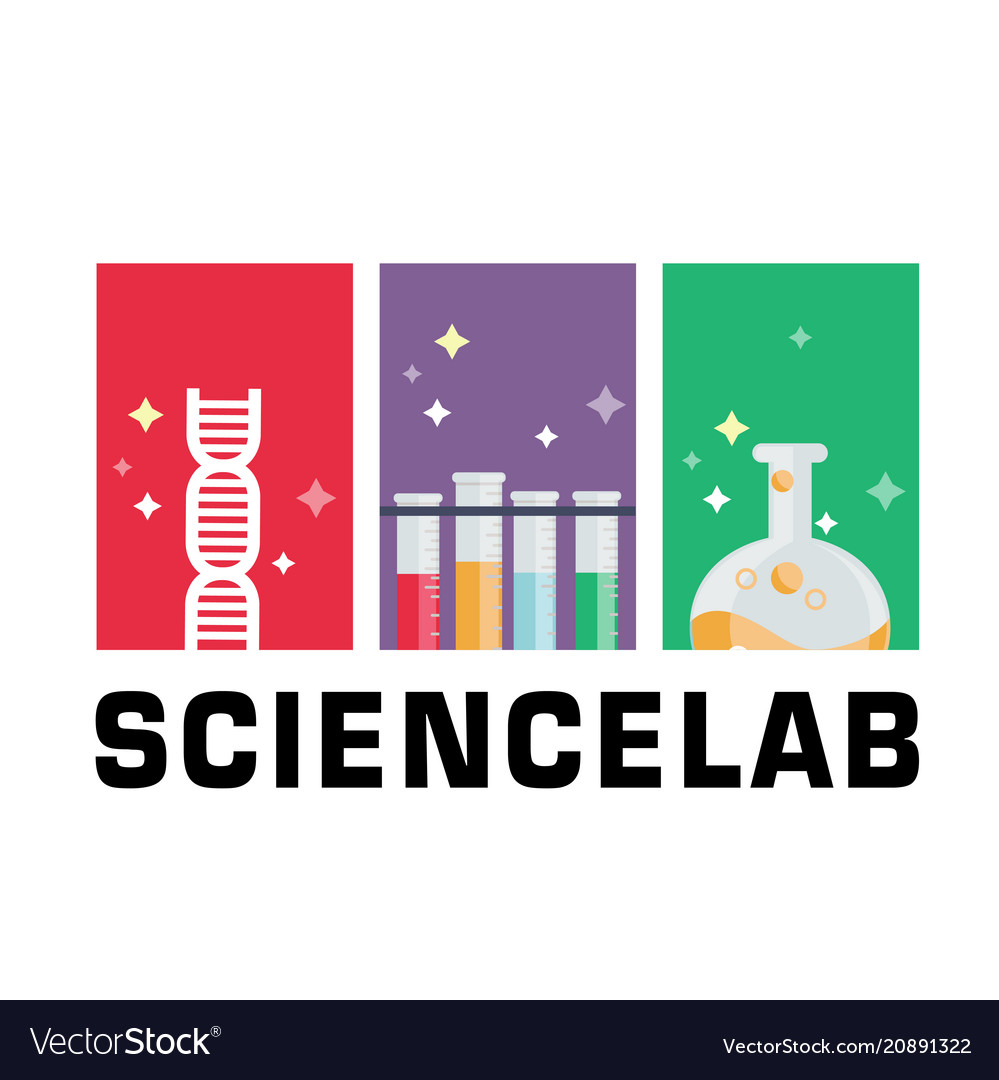 Science lab dna test tube beaker background