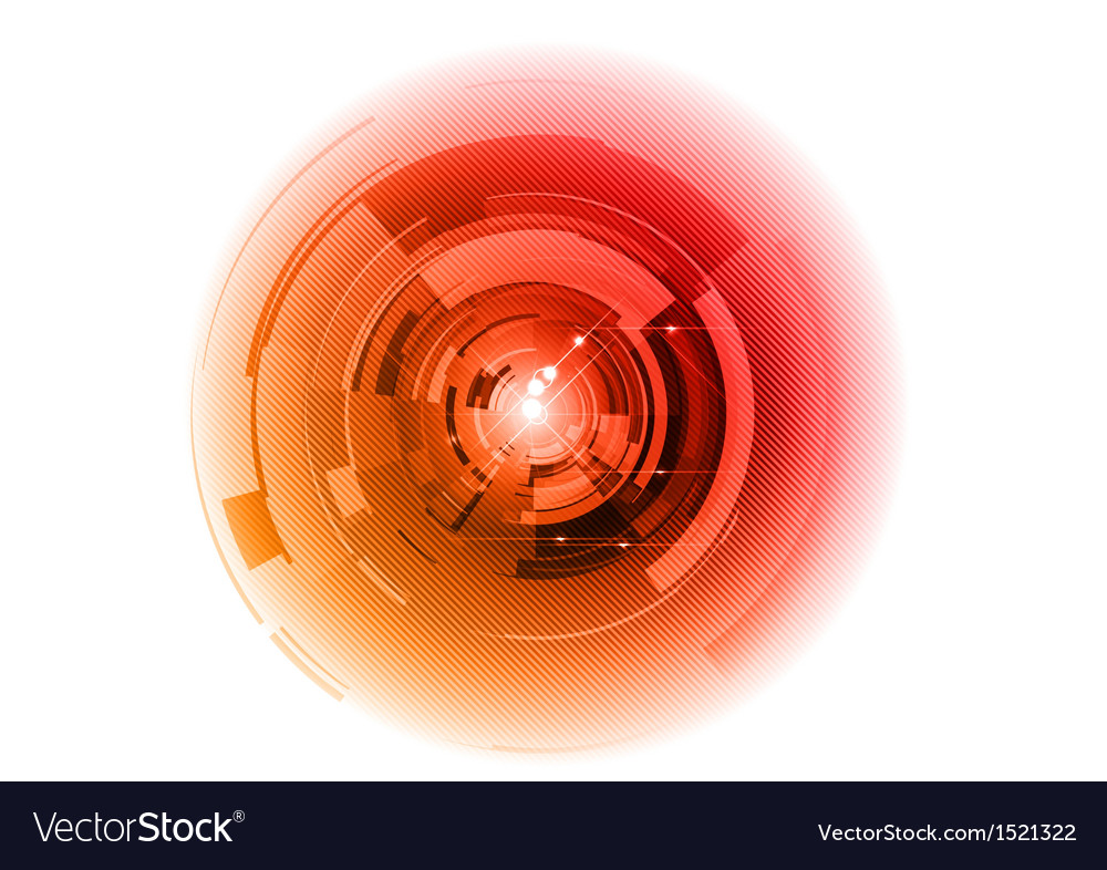 Tech background center red