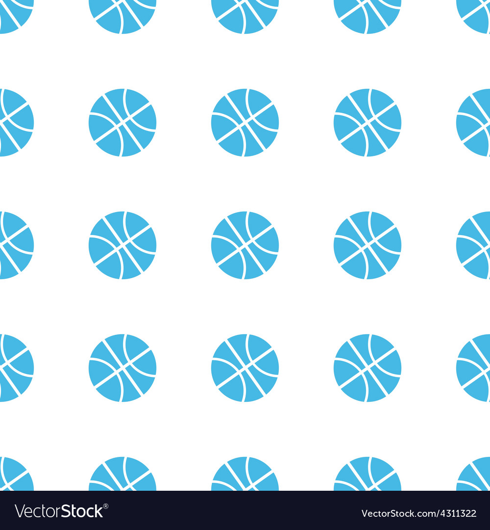 Unique Basketball seamless pattern