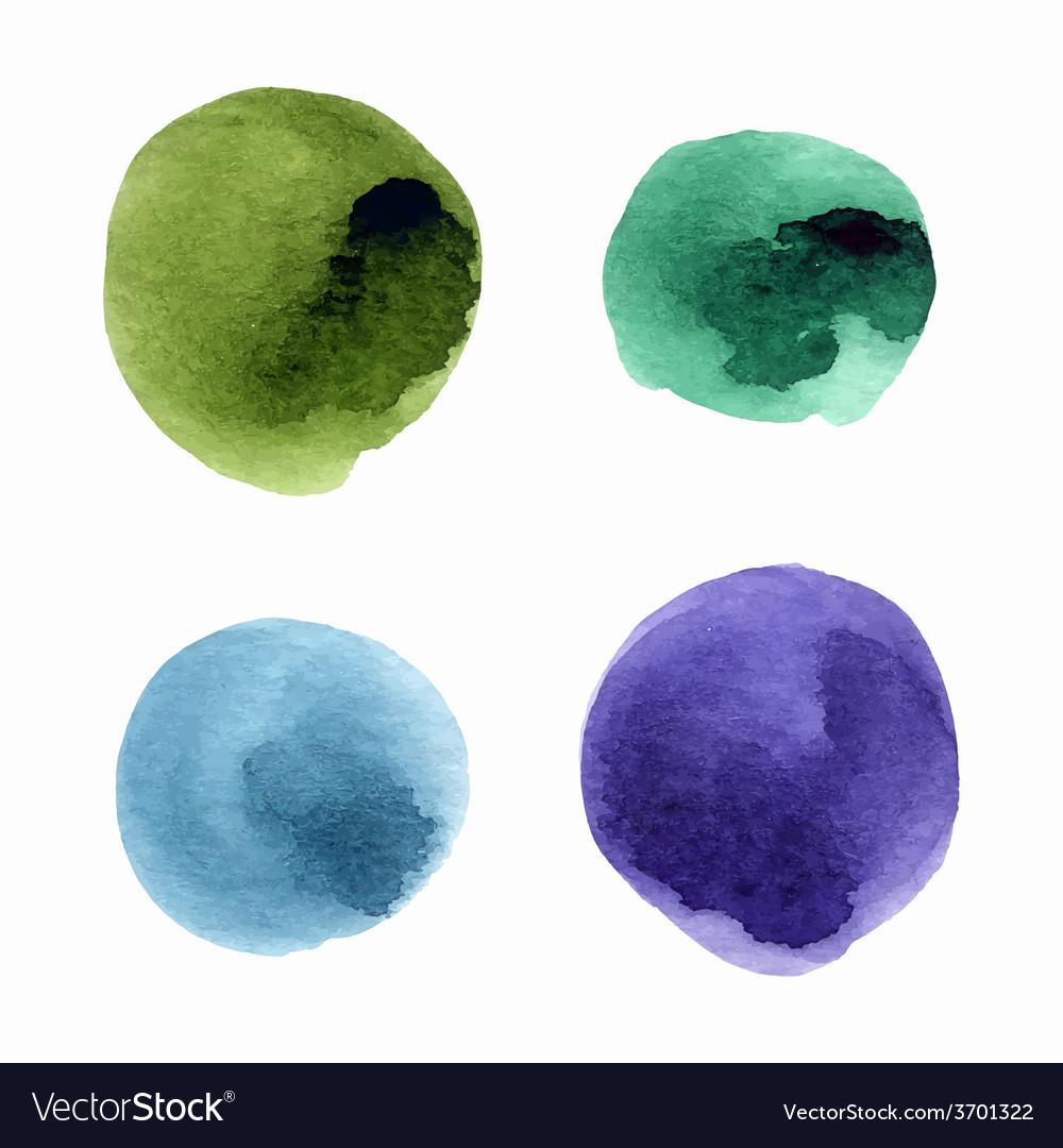Watercolor splash vector image