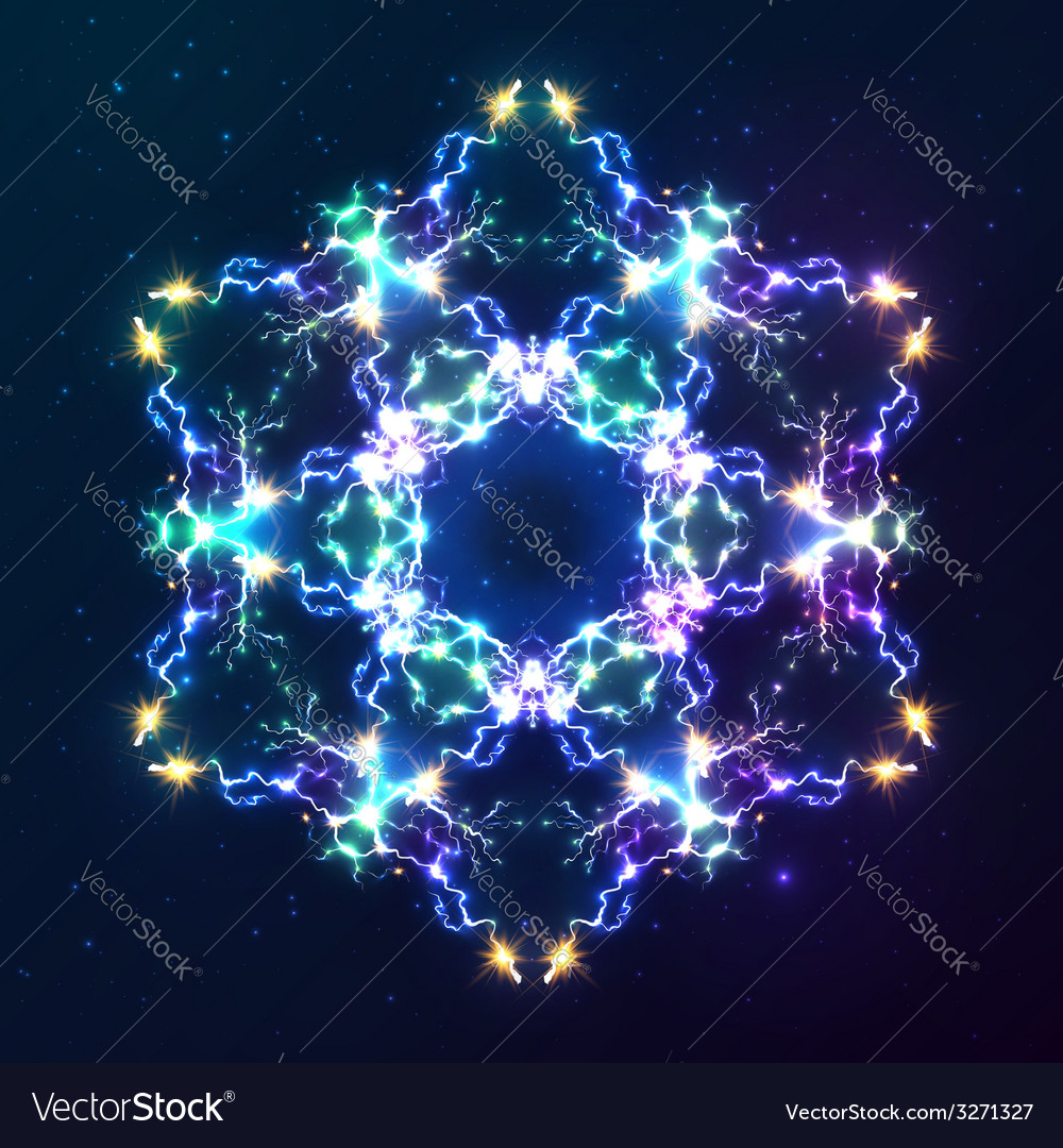 Abstract cosmic fractal snowflake
