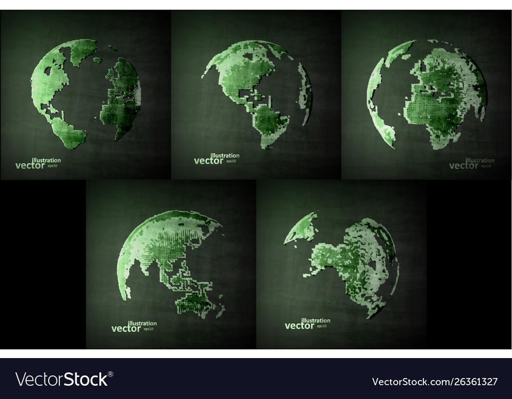 Abstract image globe