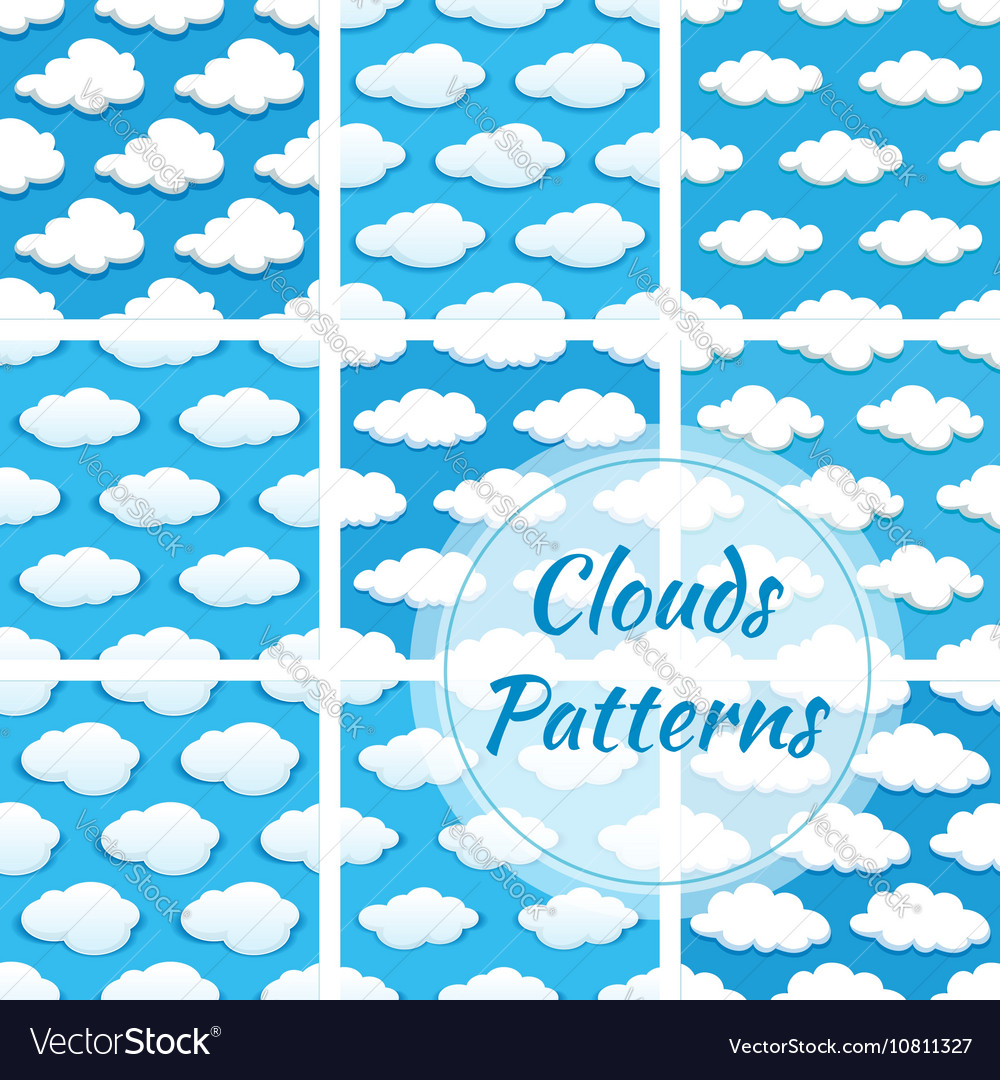 Clouds seamless patterns