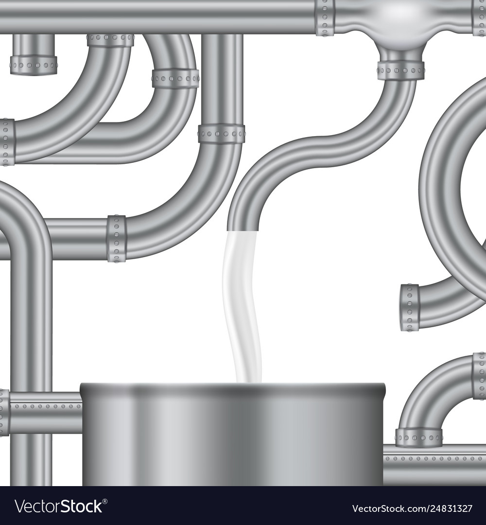 Concept process of filling the milk storage tank