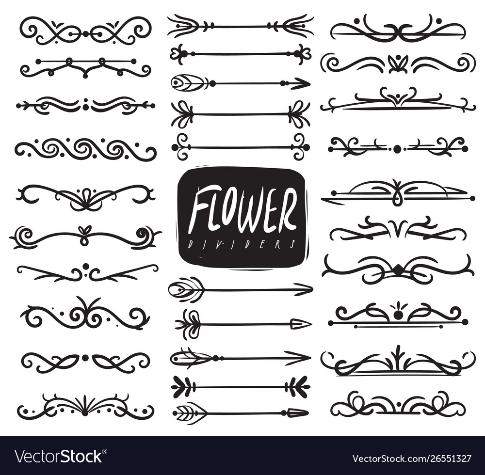Flower ornament dividers ornamental divider and