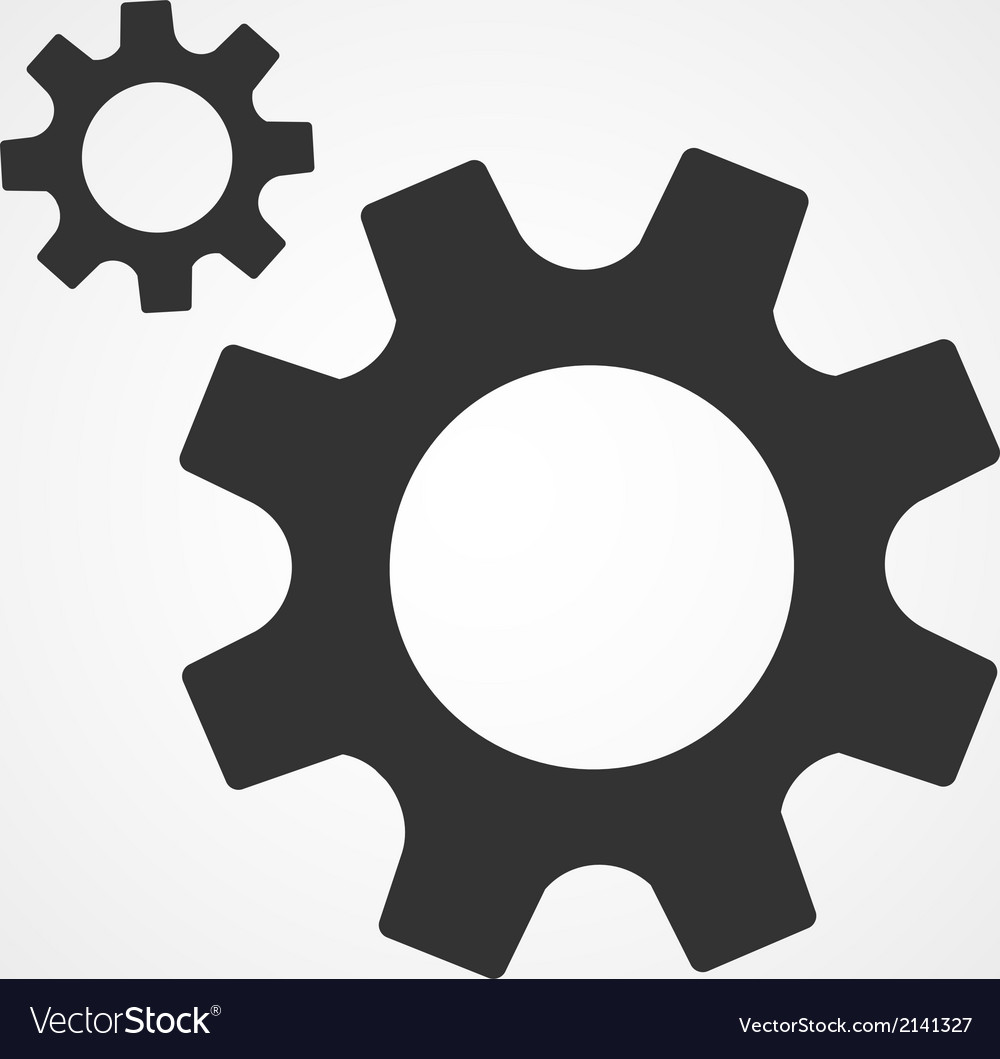 Gear icon flat design