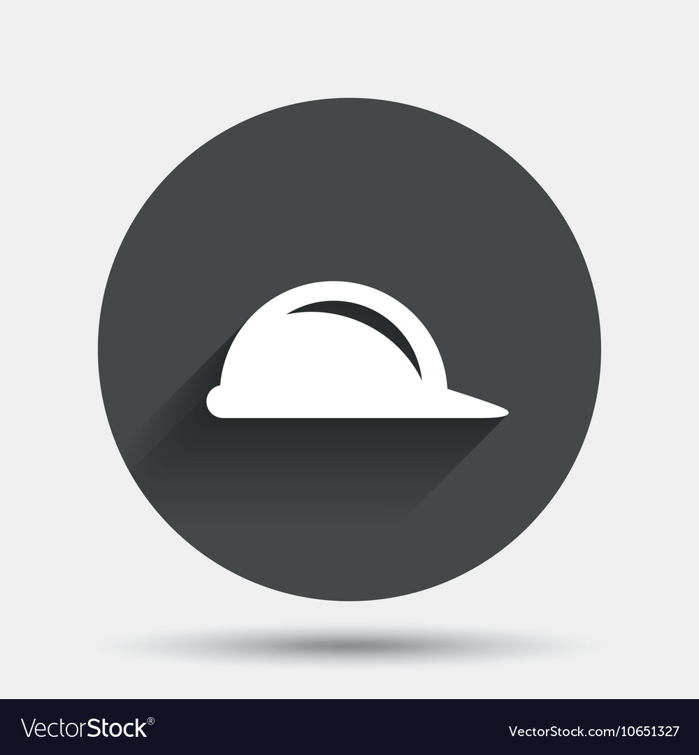 Hard hat sign icon Construction helmet symbol vector image